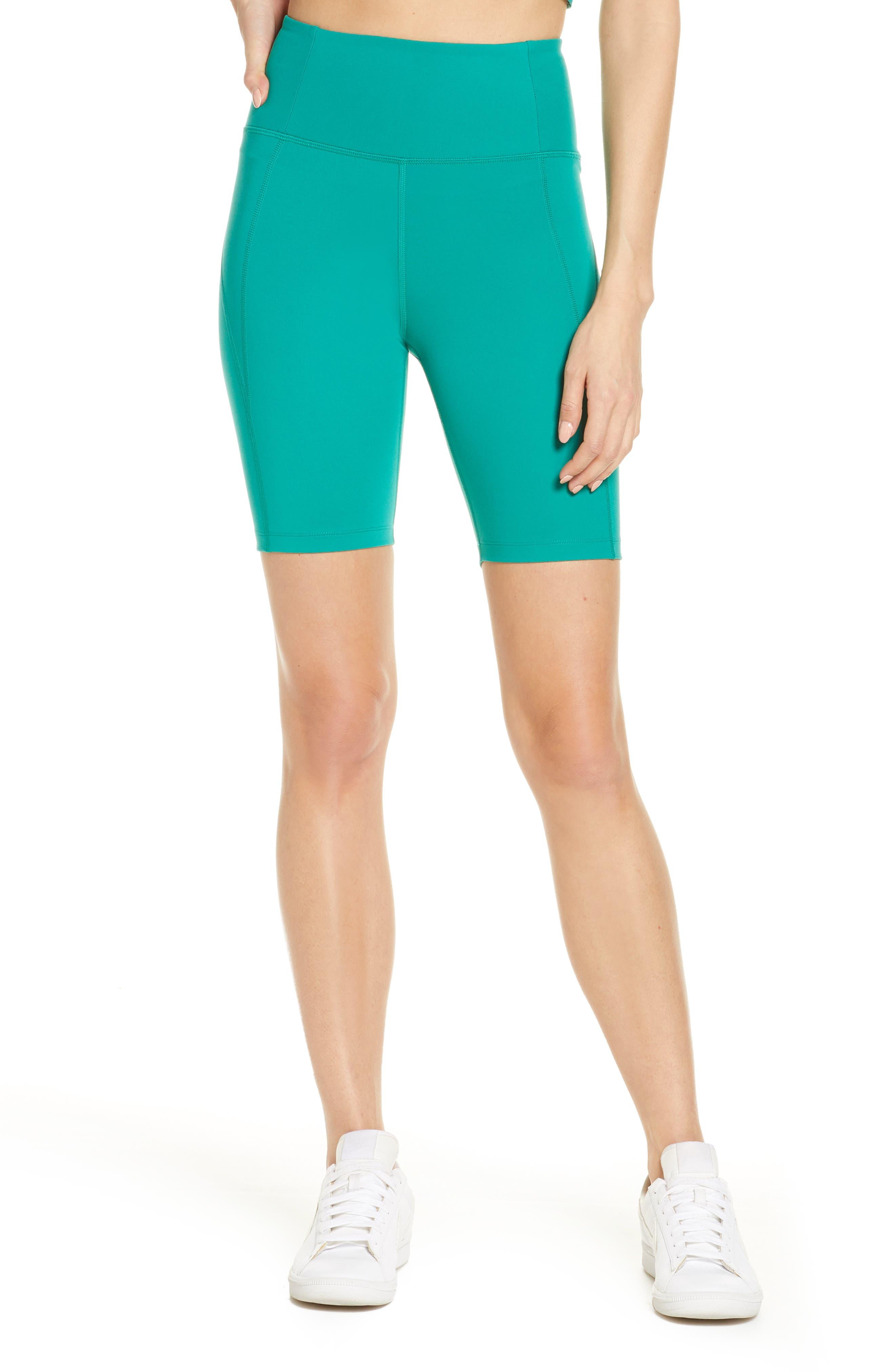 Plus  Women's Girlfriend Collective High Waist Bike Shorts,  3X-Large - Green