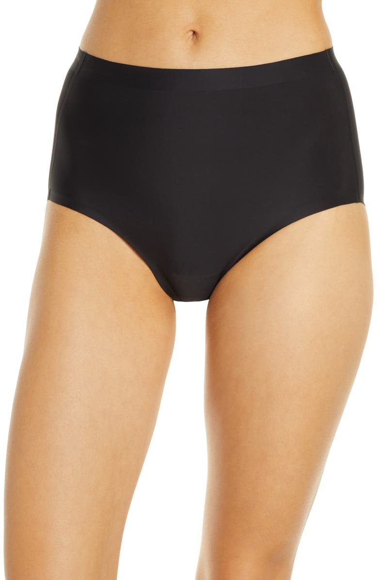 KNIX Essential High Waist Panties, Main, color, BLACK