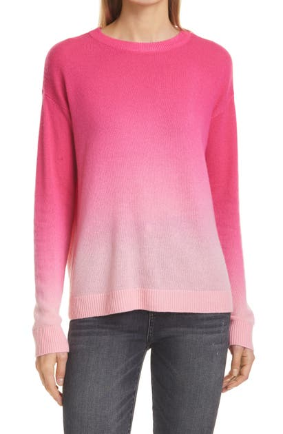 Alice And Olivia GLEESON DIP DYE CASHMERE BLEND SWEATER