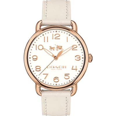Coach Delancey Leather Strap Watch,
