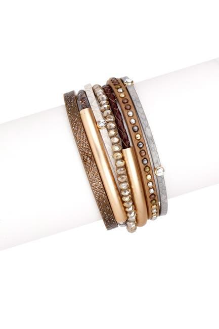 Image of Saachi Bronze Madrid Multi-Strand Leather Bracelet
