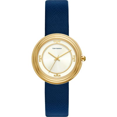 Tory Burch Bailey Leather Strap Watch,