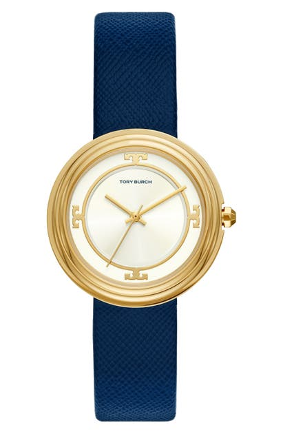 Tory Burch BAILEY LEATHER STRAP WATCH, 34MM