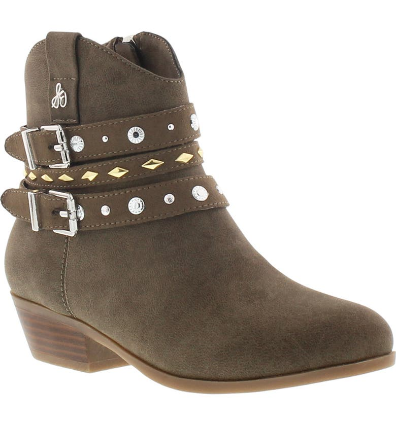 SAM EDELMAN Conch Studded Boot, Main, color, TAUPE DARK BROWN