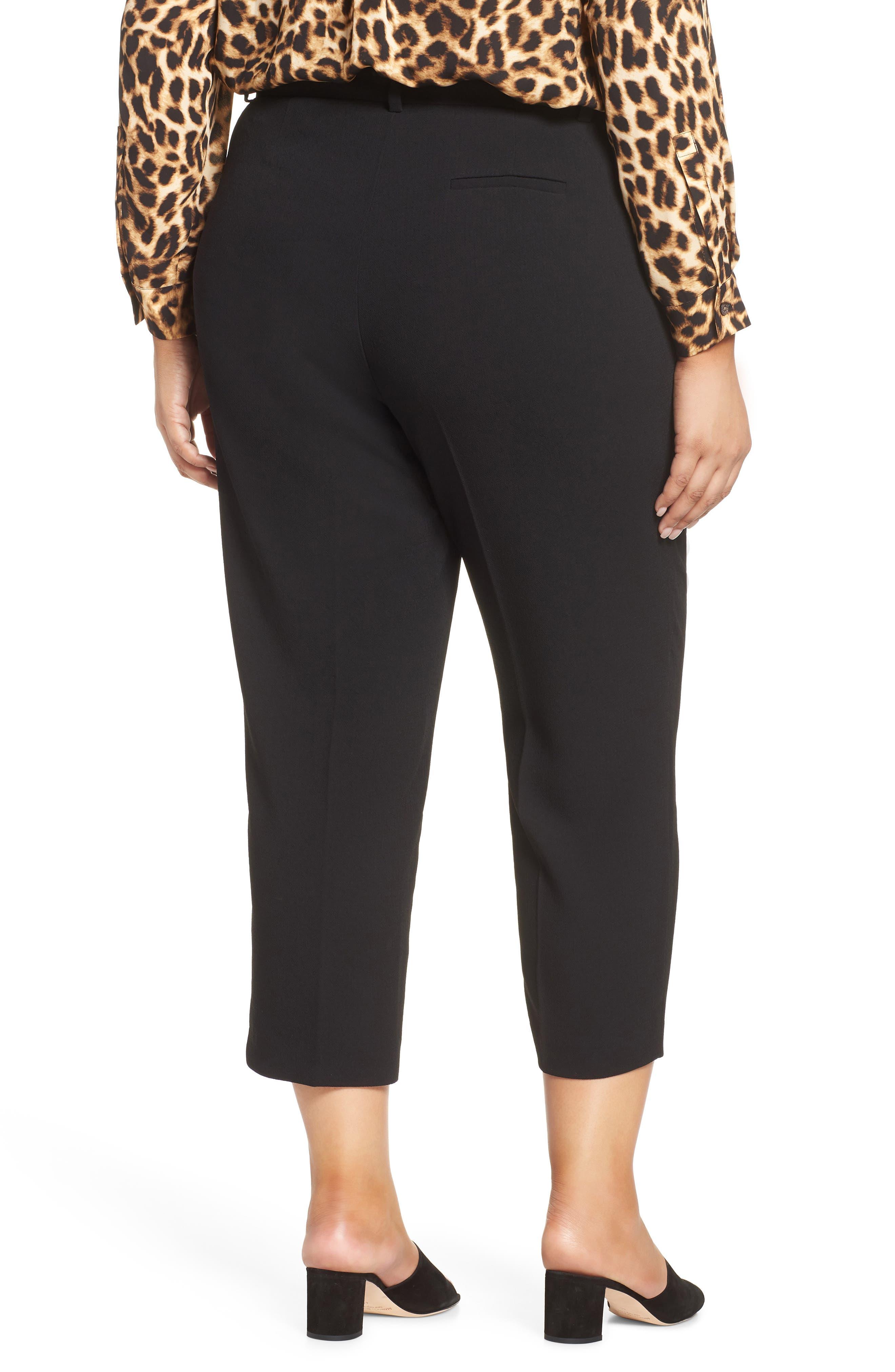 ,                             Parisian Crepe Trousers,                             Alternate thumbnail 2, color,                             RICH BLACK