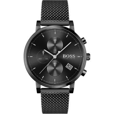 Boss Integrity Chronograph Mesh Strap Watch, 4m