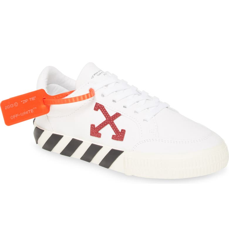 OFF-WHITE Arrow Low Top Vulcanized Sneaker, Main, color, 100