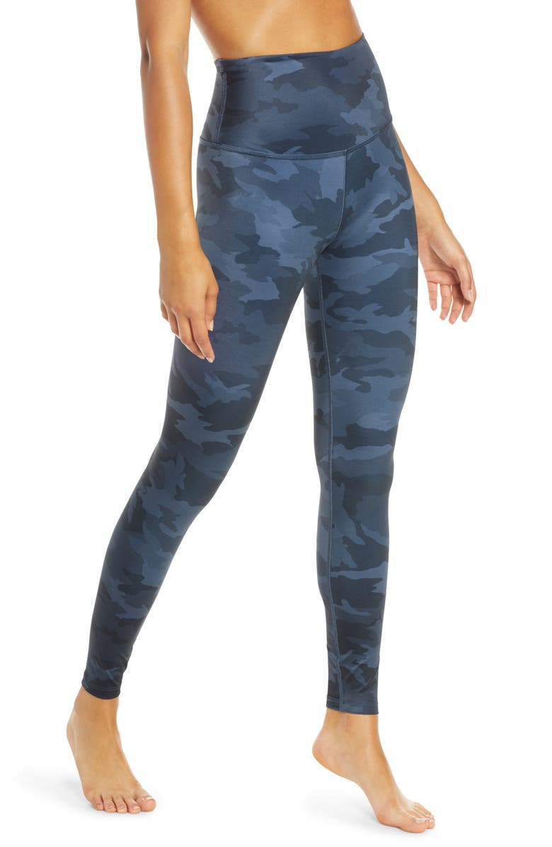 BEYOND YOGA Lux High Waist Leggings, Main, color, NAVY CAMO