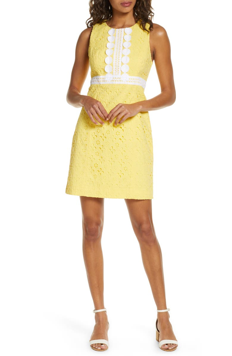 LILLY PULITZER<SUP>®</SUP> Railee Eyelet Shift Dress, Main, color, 764