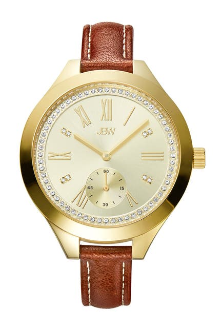 Image of JBW Women's Aria 18K Gold Plated Stainless Steel Diamond Watch, 40mm - 0.08 ctw