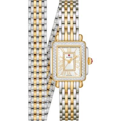 Michele Deco Madison Mini Diamond Bracelet Watch, 22mm