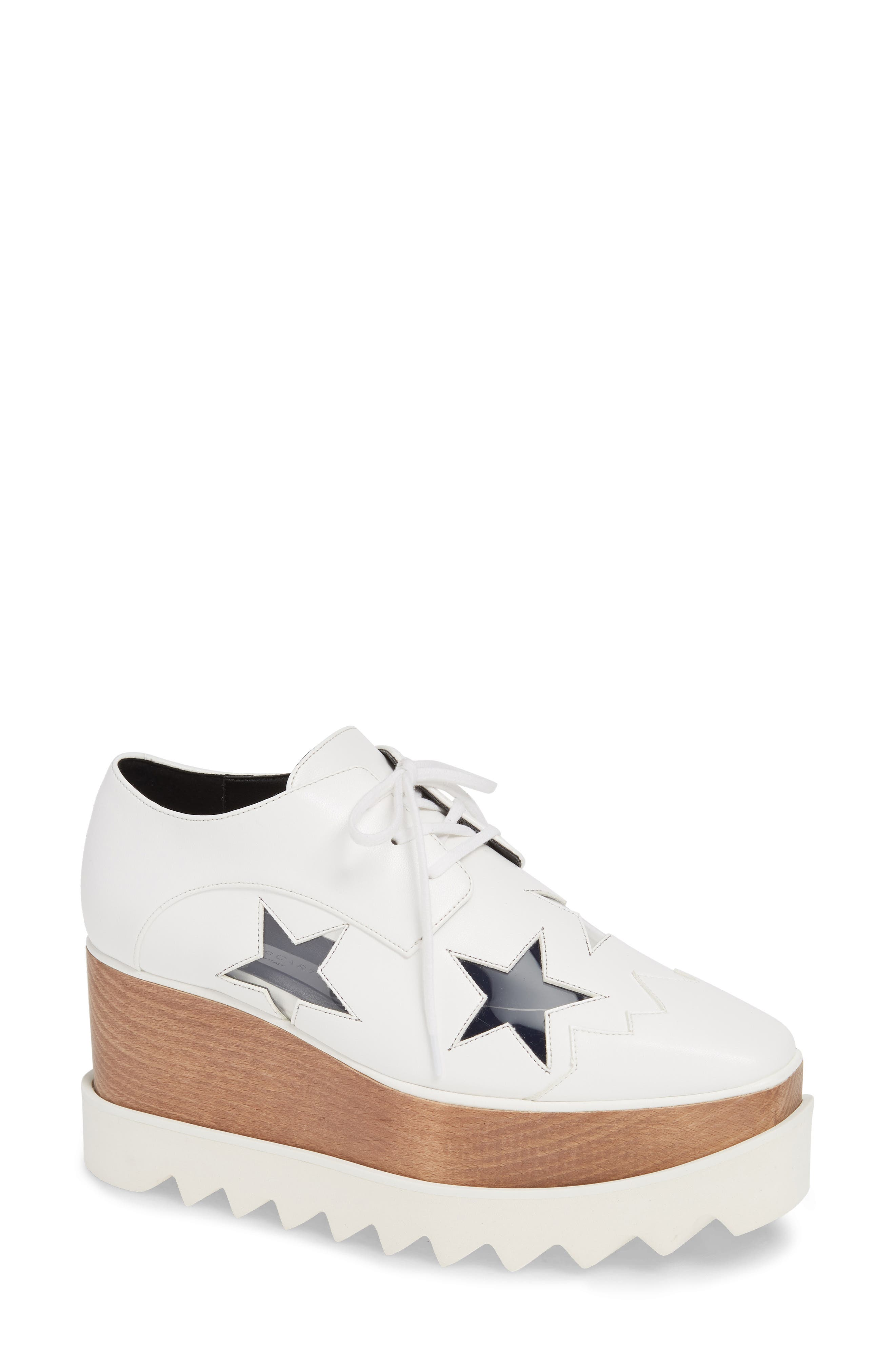 Stella Mccartney Elyse Clear Star Platform Oxford