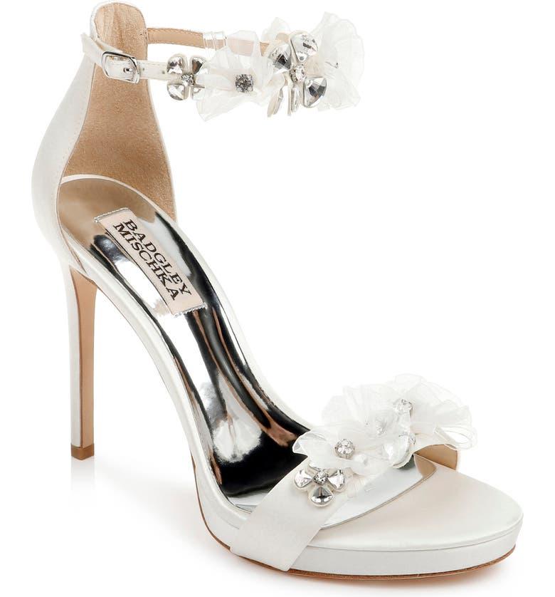 BADGLEY MISCHKA COLLECTION Badgley Mischka Cardi Crystal Embellished Sandal, Main, color, 142