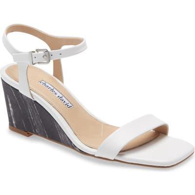 Charles David Transform Wedge Sandal- White