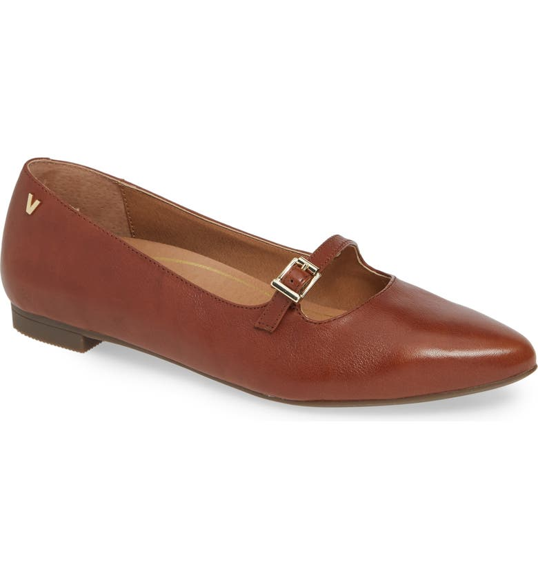 VIONIC Delilah Flat, Main, color, MOCHA LEATHER