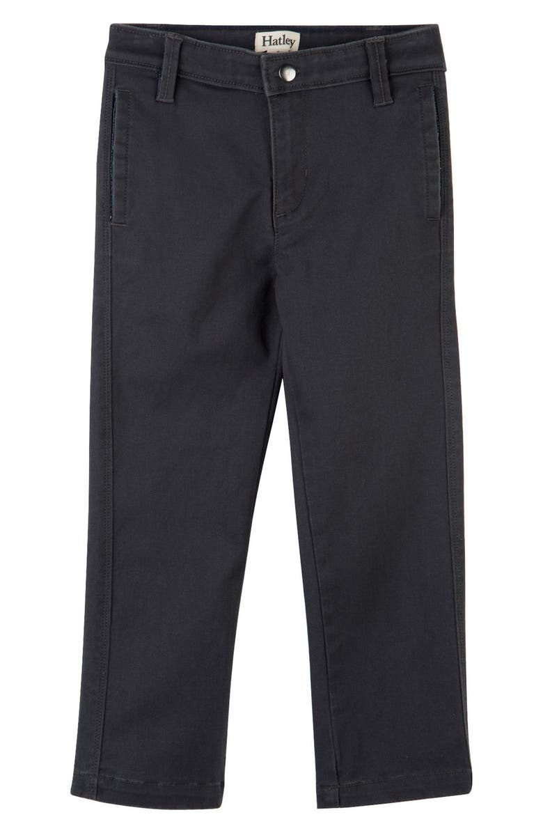 HATLEY Stretch Cotton Twill Pants, Main, color, GREY