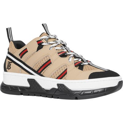 Burberry The Union Logo Platform Sneaker, Beige