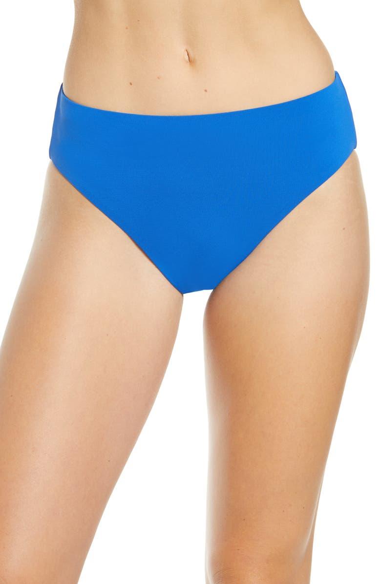 ROBIN PICCONE Ava High Waist Bikini Bottoms, Main, color, SAPPHIRE