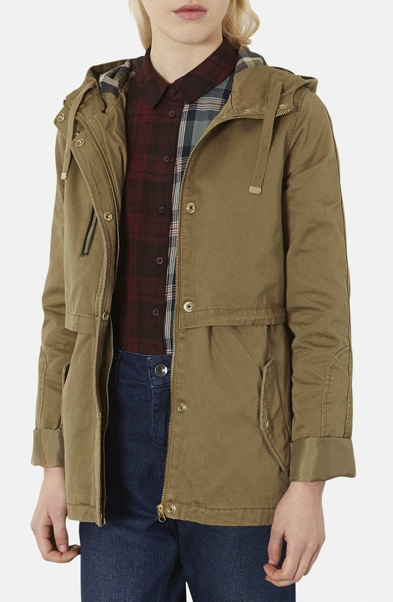 TOPSHOP 'Wilbert' Lightweight Parka, Main, color, 210