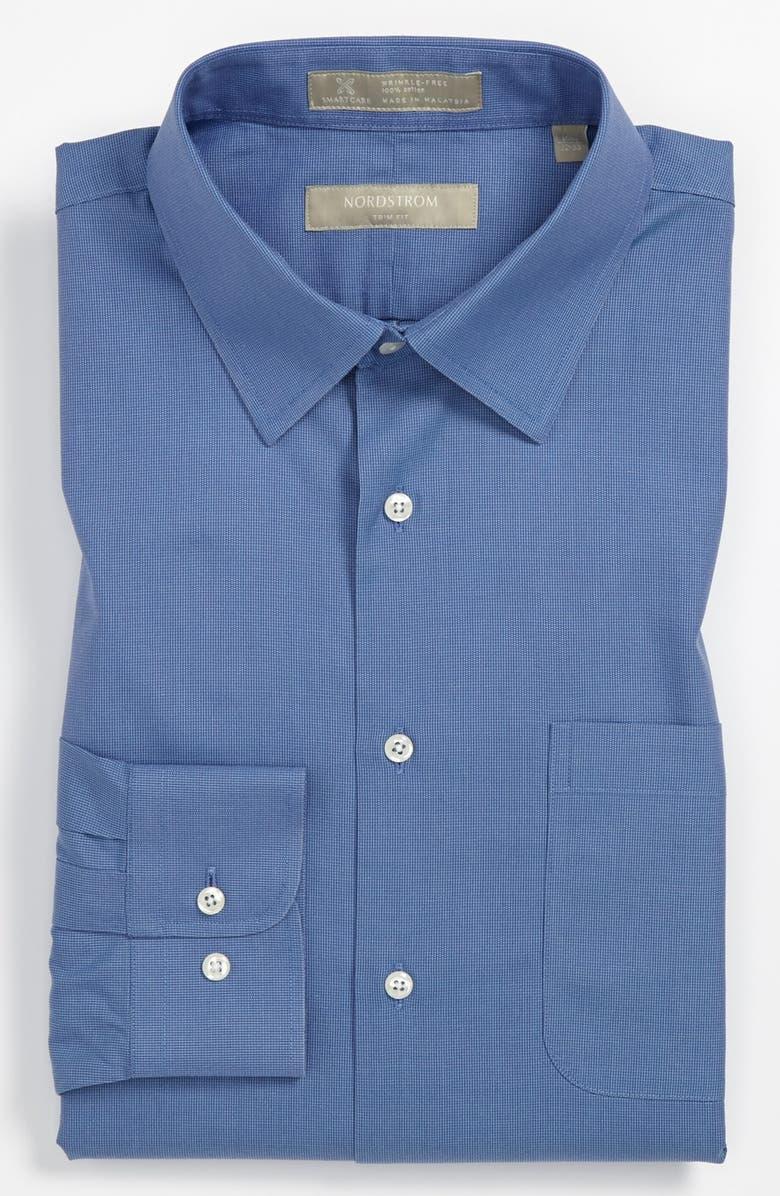 NORDSTROM MEN'S SHOP Nordstrom Smartcare<sup>™</sup> Wrinkle Free Trim Fit Dress Shirt, Main, color, 400