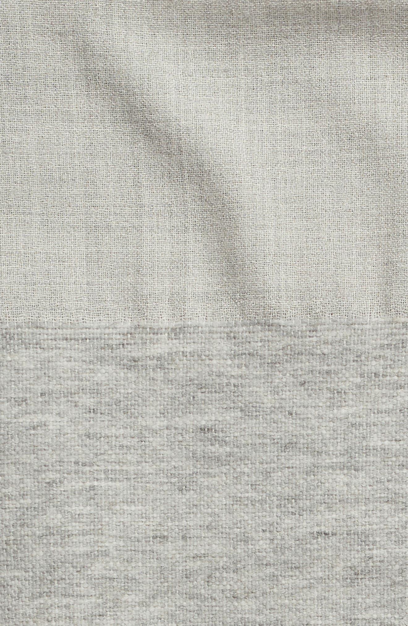 ,                             Double Texture Alpaca Blend Throw Blanket,                             Alternate thumbnail 2, color,                             LIGHT GREY