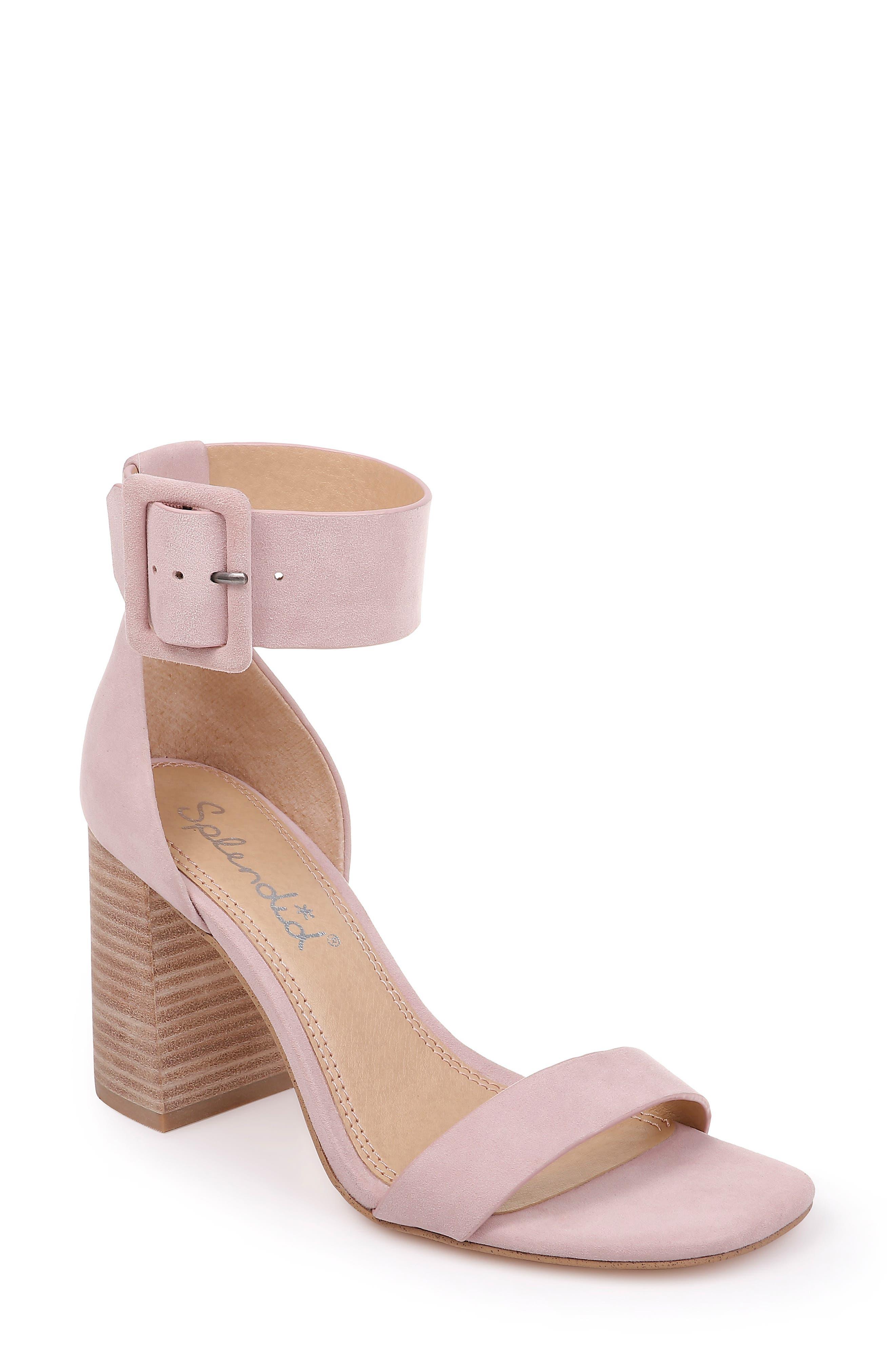 Splendid Block Heel Sandal- Pink