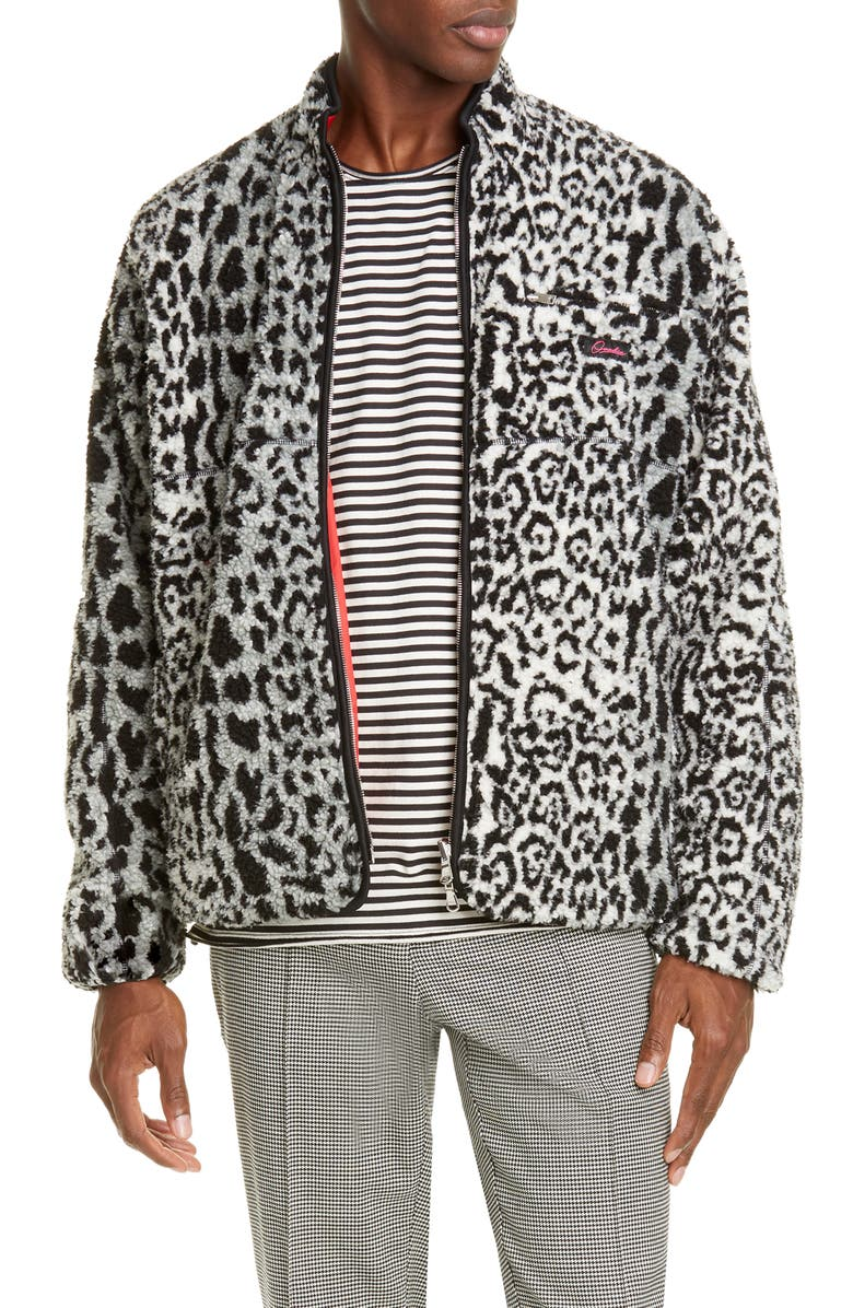 OVADIA Marsh Reversible Jacket, Main, color, LEOPARD