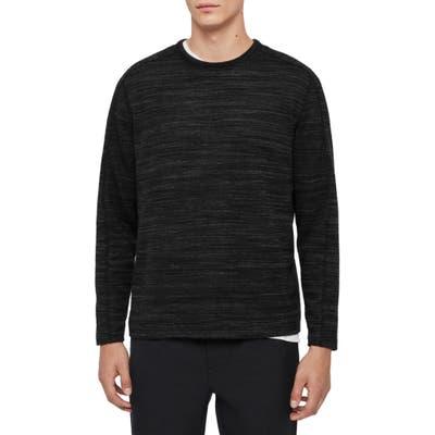 Allsaints Gannet Long Sleeve Melange T-Shirt, Grey