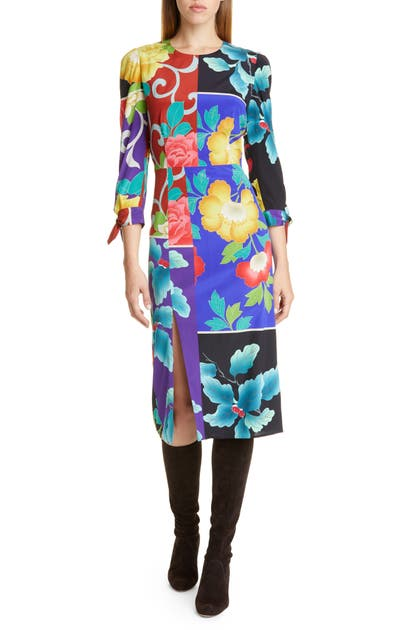 Etro Dresses PATCHWORK FLORAL STRETCH SILK DRESS