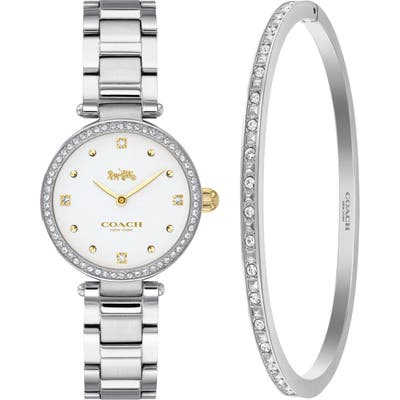 Coach Park Crystal Bracelet Watch, 2m And Bangle Bracelet