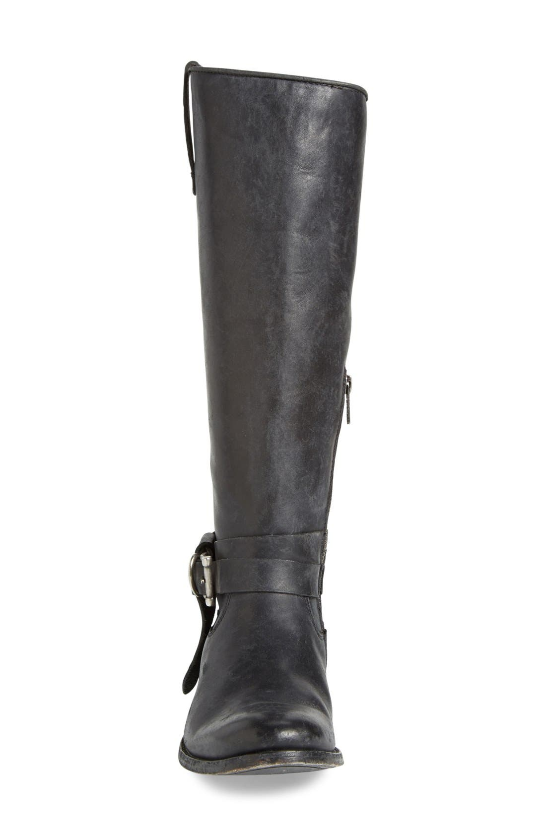 Frye Melissa Leather Knotted Tall Riding Boot - Wide Calf Available
