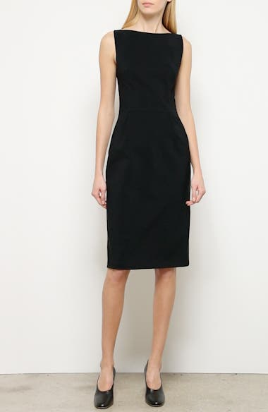 Bonded Neoprene Sheath Dress, video thumbnail