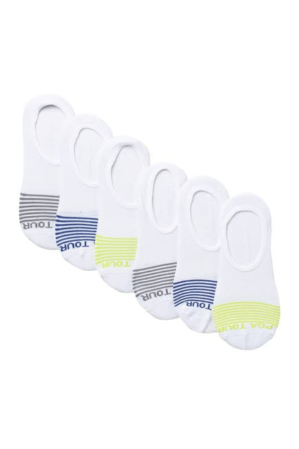 Image of PGA TOUR Striped No Show Liner - 6 Pack of Socks