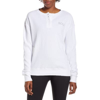 Soul By Soulcycle Thermal Shirt, White