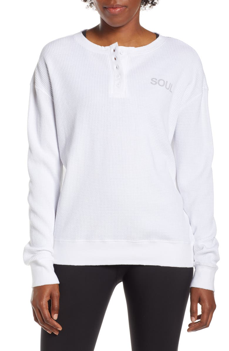 SOUL BY SOULCYCLE Thermal Shirt, Main, color, 100