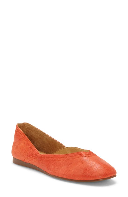 Lucky Brand Alba Flats Women's Shoes In Grenadine Leather