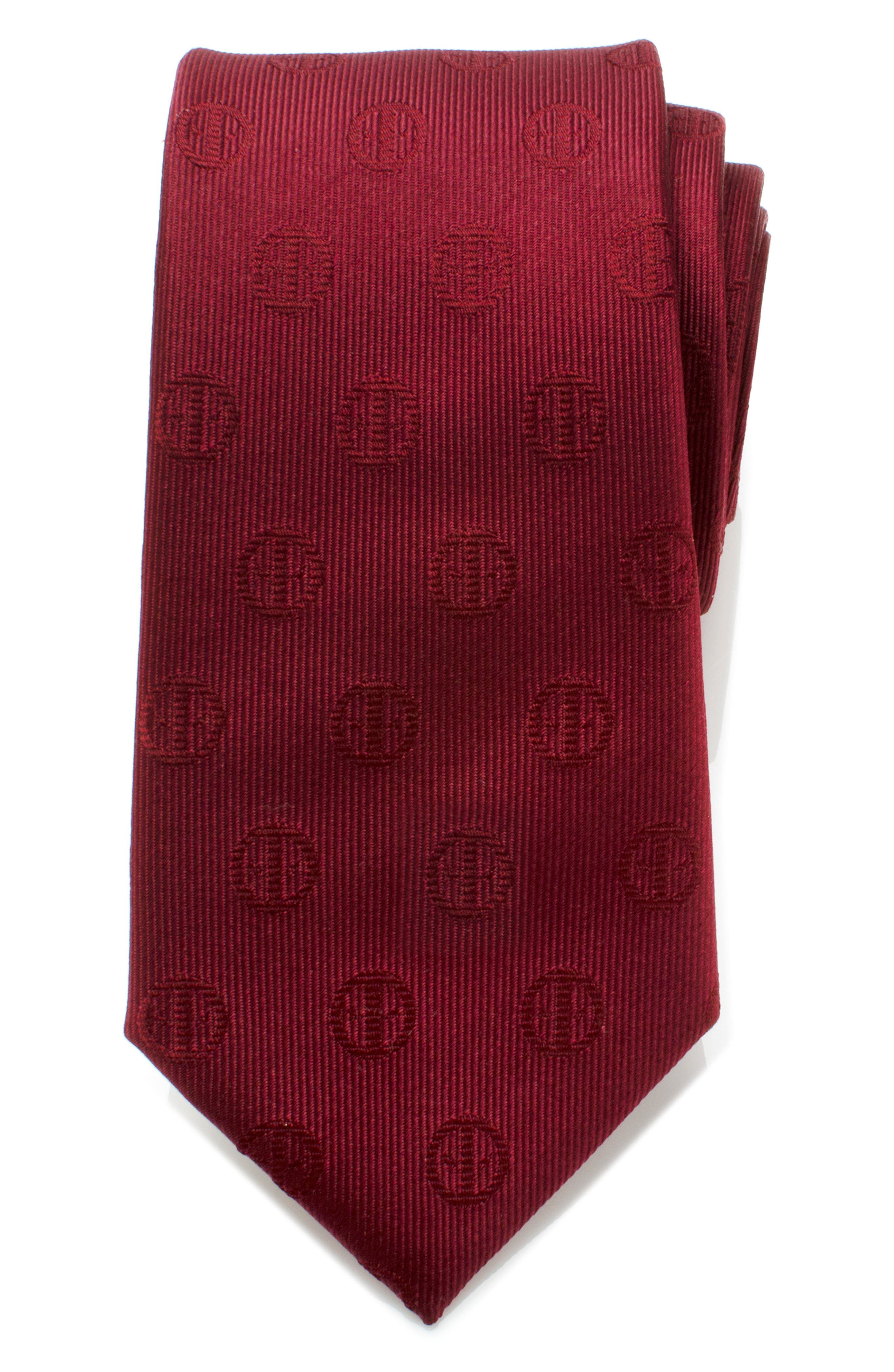 Show off your Deadpool fandom with this eye-catching tie cut from pure silk. Style Name: Cufflinks, Inc. Deadpool Silk Tie. Style Number: 5707720. Available in stores.