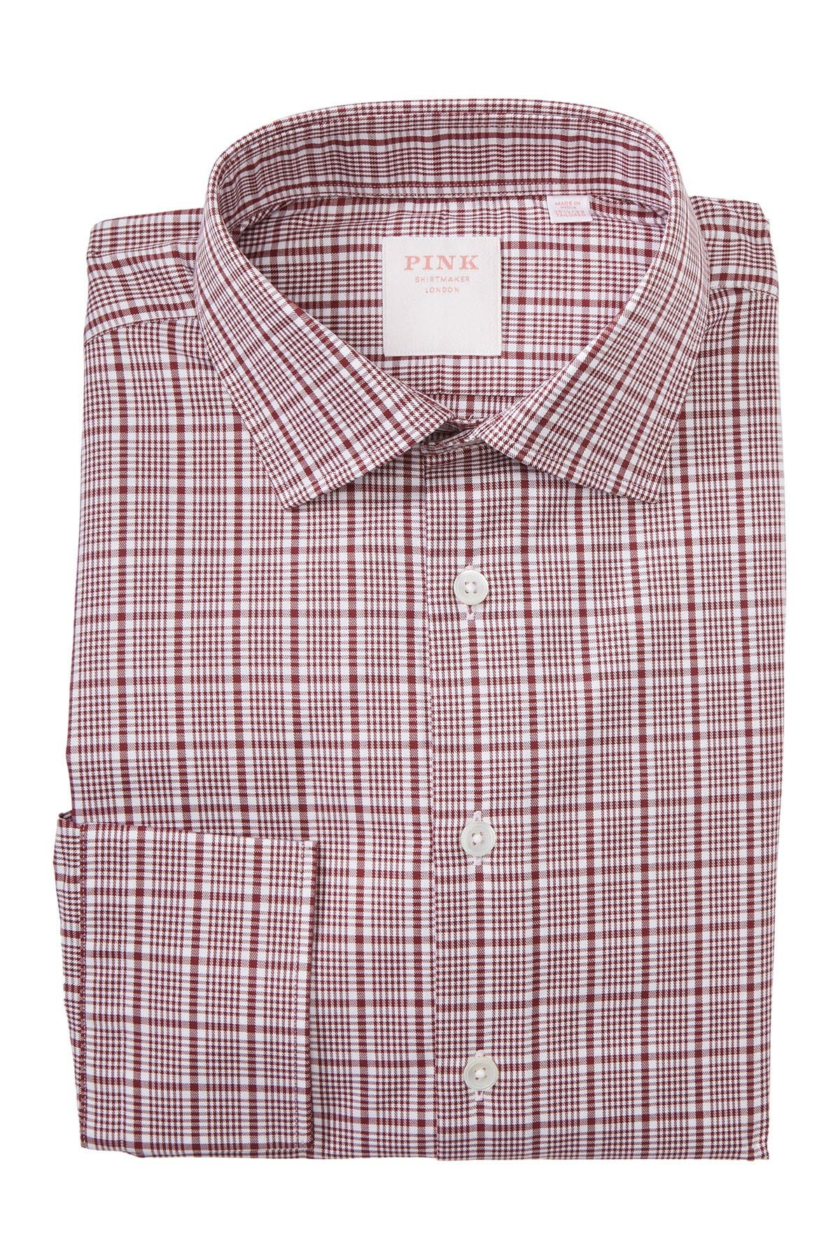 Image of THOMAS PINK Royal Check Print Dress Shirt