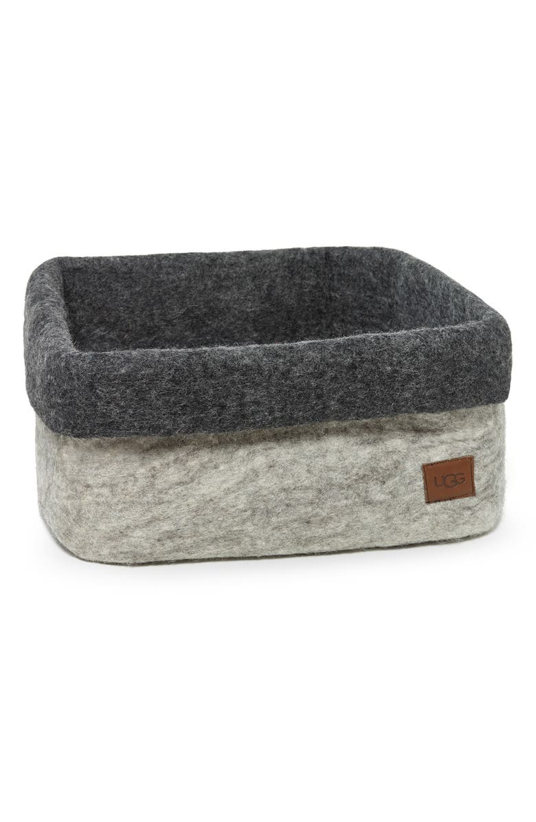 UGG<SUP>®</SUP> Jade Cove Felted Wool Basket, Main, color, 020