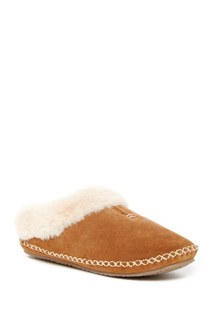 Image of Minnetonka Carolina Faux Fur Lined Slipper
