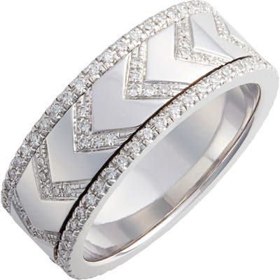 Ef Collection Diamond Chevron Spinning Ring