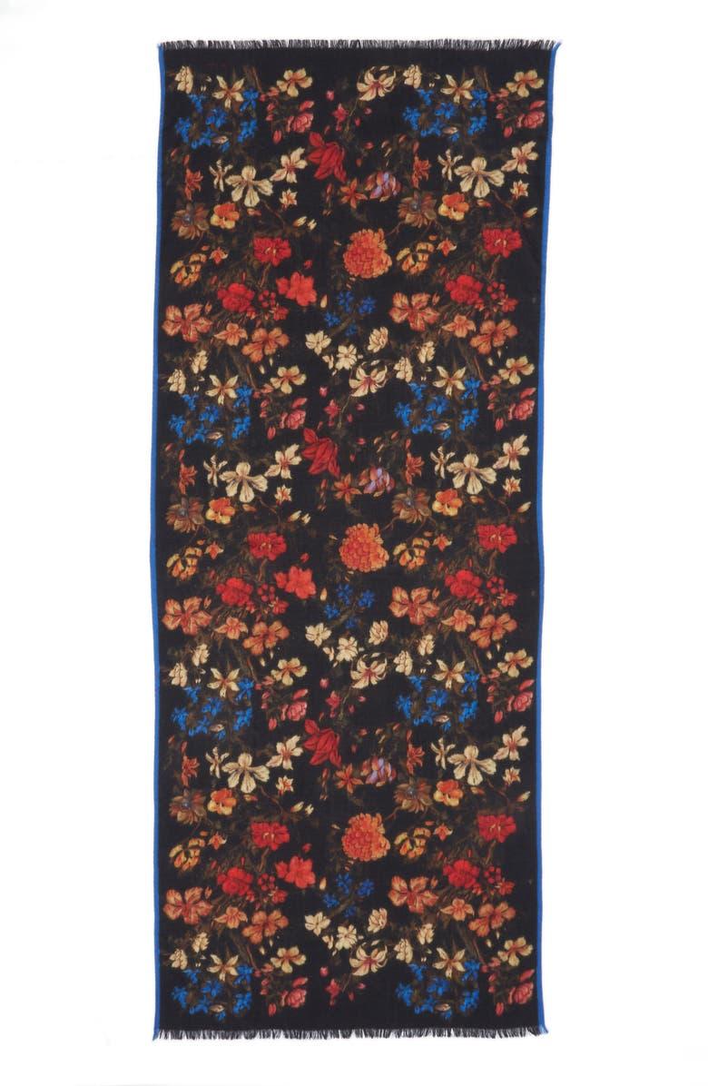 ETRO Floral Print Scarf, Main, color, 001