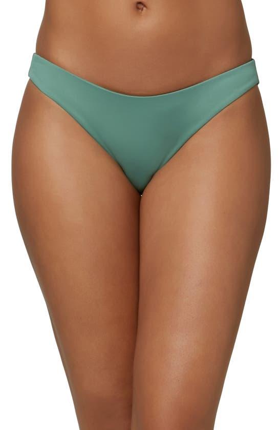 O'neill Rockley Saltwater Solid Bikini Bottoms In Moss