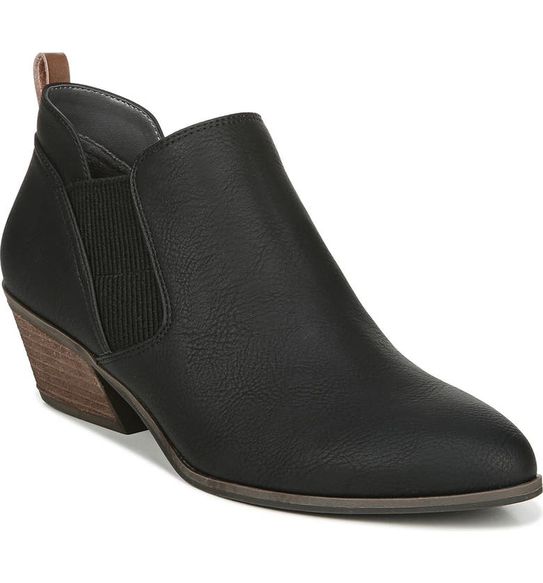 DR. SCHOLL'S Neptune Bootie, Main, color, BLACK FAUX LEATHER