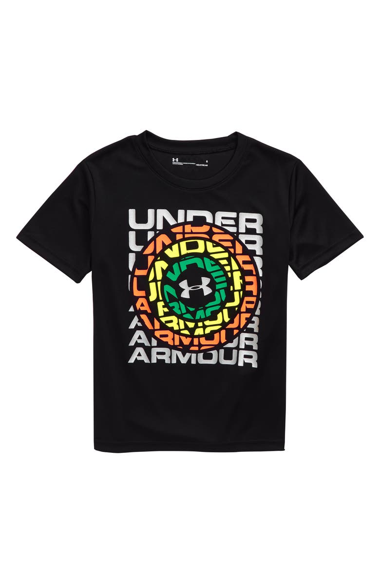UNDER ARMOUR HeatGear<sup>®</sup> Logo Graphic T-Shirt, Main, color, BLACK