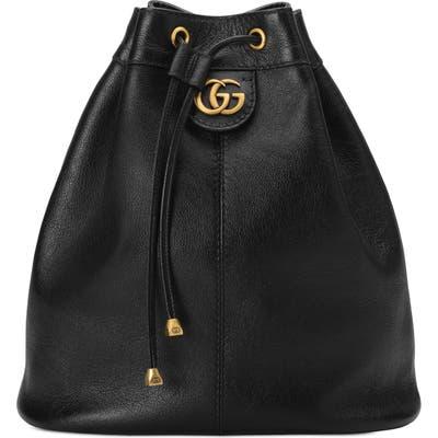 Gucci Medium Re(Belle) Leather Convertible Bucket Bag - Black