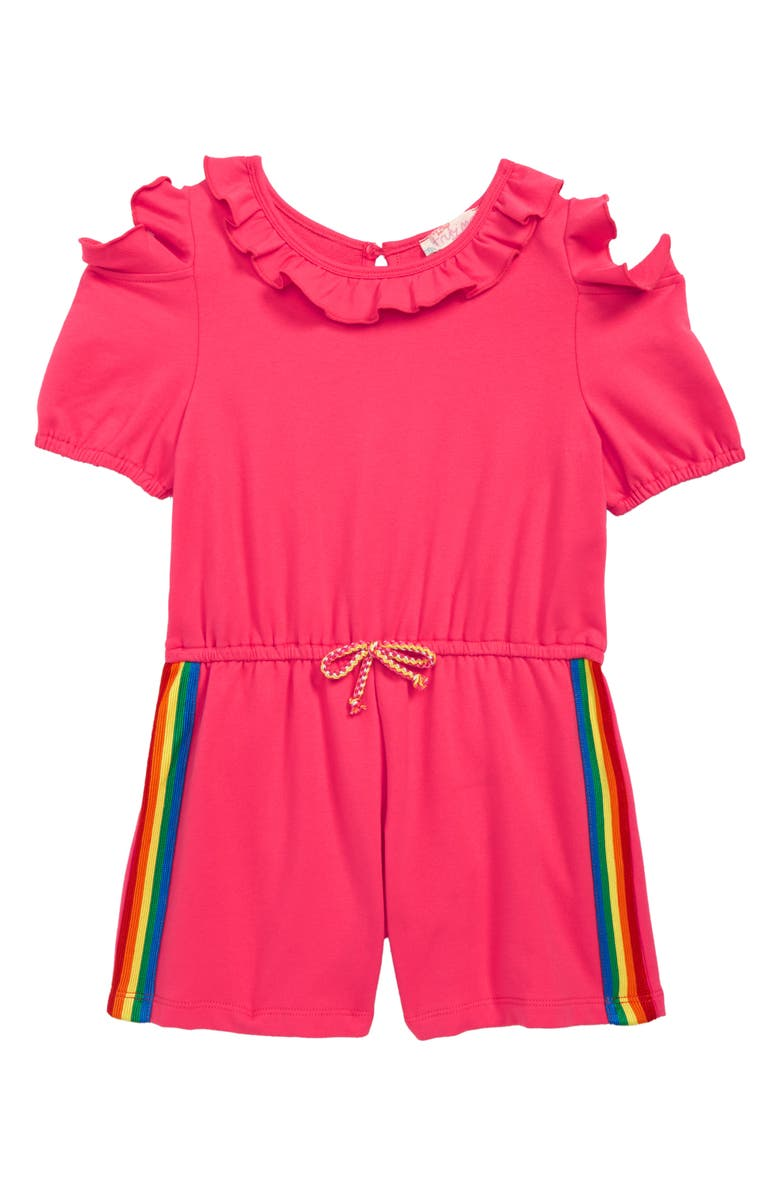 TRULY ME Rainbow Tape Romper, Main, color, 600