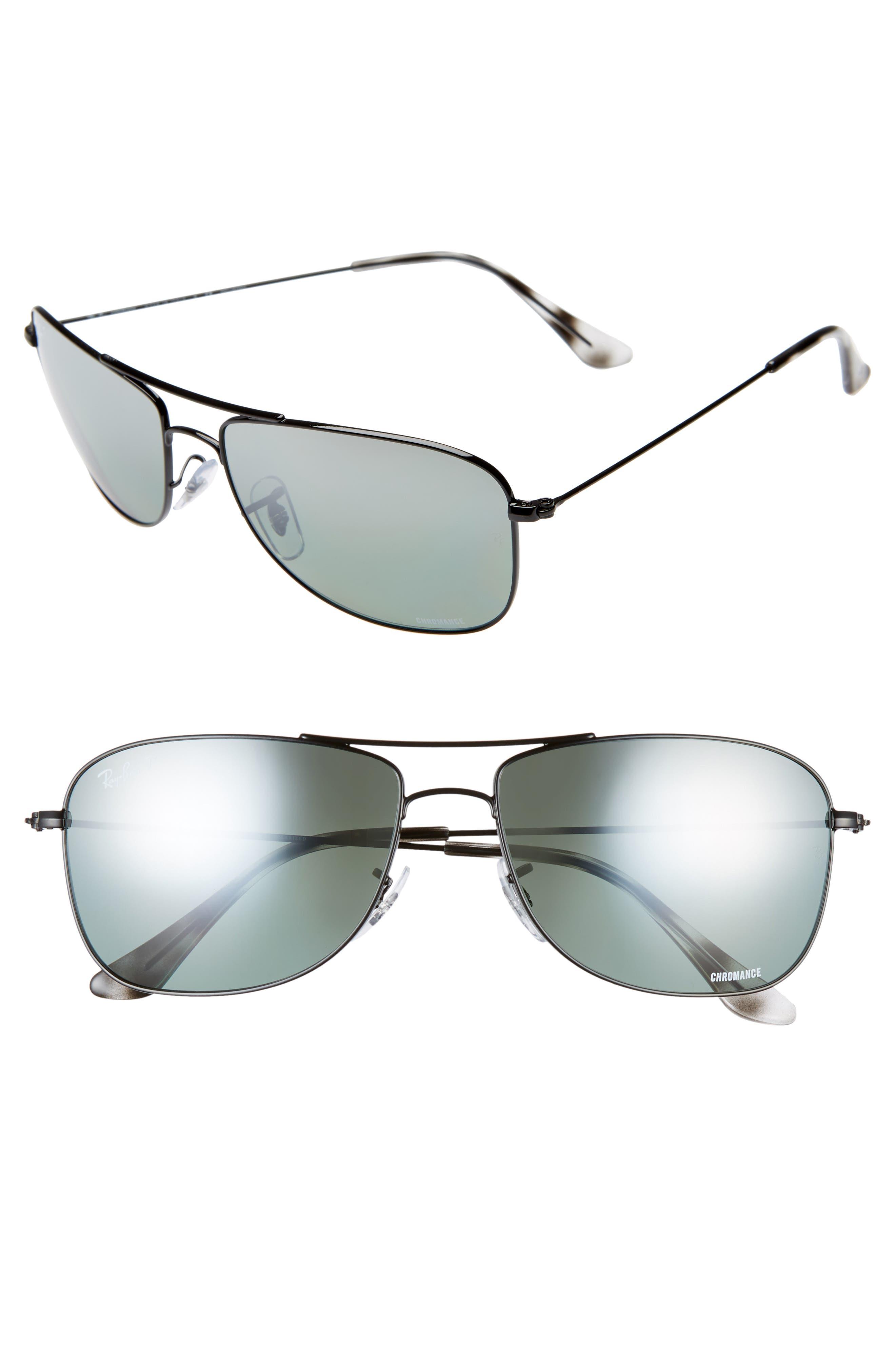 Ray-Ban 5m Chromance Aviator Sunglasses - Black