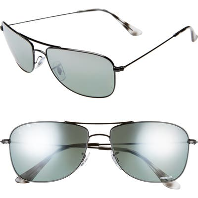 Ray-Ban 5m Chromance Aviator Sunglasses - Black