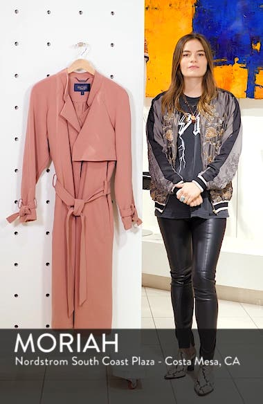 Luxe Crepe Trench Coat, sales video thumbnail
